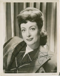 Movie/TV Memorabilia:Autographs and Signed Items, Joan Crawford Autographed Photo....