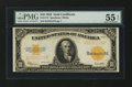 Large Size:Gold Certificates, Fr. 1173 $10 1922 Gold Certificate PMG About Uncirculated 55 EPQ....