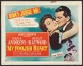 "Movie Posters:Drama, My Foolish Heart (RKO, 1950). Half Sheet (22"" X 28"") Style B. Drama.. ..."