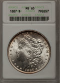 Morgan Dollars: , 1887 $1 MS65 ANACS. NGC Census: (22176/3377). PCGS Population (13585/1306). Mintage: 20,290,710. Numismedia Wsl. Price for ...