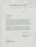 Music Memorabilia:Autographs and Signed Items, Lotte Lenya Signed Agreement....