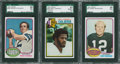 Football Cards:Lots, 1976 and 1979 Topps Football Hall of Famer Cards SGC Graded Lot of 3....