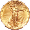 High Relief Double Eagles, 1907 $20 High Relief, Flat Rim MS67 NGC....