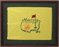 Autographs:Others, Fuzzy Zoeller Signed Golf Flag....