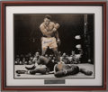 Boxing Collectibles:Autographs, Muhammad Ali over Sonny Liston Signed Photograph (Steiner)...