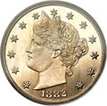 Patterns, 1882 5C Liberty Head Five Cents, Judd-1690, Pollock-1892, R.5, PR66Cameo PCGS. CAC....
