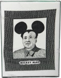 "Movie/TV Memorabilia:Props, Murphy Brown Framed ""Mickey Mao"" T-Shirt Swatch...."