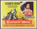 "Movie Posters:Adventure, Elephant Walk (Paramount, R-1960). Half Sheet (22"" X 28"").Adventure.. ..."