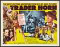 "Movie Posters:Adventure, Trader Horn (MGM, R-1953). Half Sheet (22"" X 28"") Style B.Adventure.. ..."