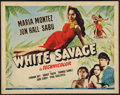 "Movie Posters:Adventure, White Savage (Universal, 1943). Half Sheet (22"" X 28""). Adventure....."