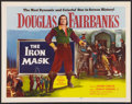 "Movie Posters:Adventure, The Iron Mask (Lippert, R-1953). Half Sheet (22"" X 28""). Adventure.. ..."