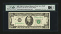 Error Notes:Mismatched Serial Numbers, Fr. 2074-B $20 1981A Federal Reserve Note. PMG Gem Uncirculated 66 EPQ.. ...