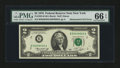 Error Notes:Mismatched Serial Numbers, Fr. 1935-B $2 1976 Federal Reserve Note. PMG Gem Uncirculated 66 EPQ.. ...