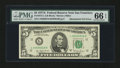 Error Notes:Mismatched Serial Numbers, Fr. 1975-L $5 1977A Federal Reserve Note. PMG Gem Uncirculated 66 EPQ.. ...