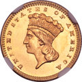 Gold Dollars, 1867 G$1 MS68 ★ NGC....