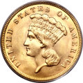 Three Dollar Gold Pieces, 1887 $3 MS65 PCGS....