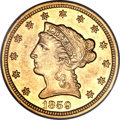 Liberty Quarter Eagles, 1859-S $2 1/2 MS62 PCGS....