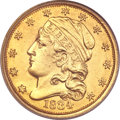 Early Quarter Eagles, 1834 $2 1/2 Capped Bust Genuine PCGS....