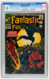Fantastic Four #52 (Marvel, 1966) CGC VF- 7.5 White pages