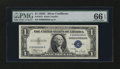 Small Size:Silver Certificates, Serial Number Four Fr. 1612 $1 1935C Silver Certificate. PMG Gem Uncirculated 66 EPQ.. ...