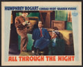 "Movie Posters:Action, All Through the Night (Warner Brothers, 1942). Lobby Card (11"" X14""). Action.. ..."