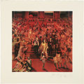 Music Memorabilia:Autographs and Signed Items, Rolling Stones Band-Signed Limited Edition Print....