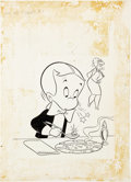 Original Comic Art:Covers, Warren Kremer Richie Rich Diamonds #2 Cover Original Art(Harvey, 1972)....