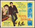"Movie Posters:Adventure, Mask of the Avenger (Columbia, 1951). Half Sheet (22"" X 28""). Adventure.. ..."