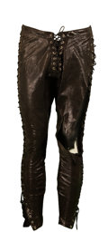 Movie/TV Memorabilia:Costumes, Rockstar - Dominic West Black Leather Pants....