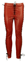Movie/TV Memorabilia:Costumes, Rockstar - Jeff Pilson Costume Vinyl Pants....