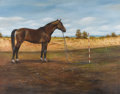 American:Portrait & Genre, Zoran Nastic (Yugoslavian, 20th century). . Horse Portrait.Undated. Oil on canvas. Signed lower right. 39-1/2 x 51 ...