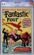 Silver Age (1956-1969):Superhero, Fantastic Four #4 (Marvel, 1962) CGC NM 9.4 Off-white to whitepages....