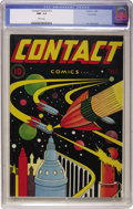 Golden Age (1938-1955):Science Fiction, Contact Comics #12 Vancouver pedigree (Aviation Press, 1946) CGCNM- 9.2 White pages....