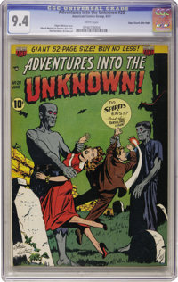 Adventures Into The Unknown #20 Mile High pedigree (ACG, 1951) CGC NM 9.4 White pages