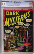 Golden Age (1938-1955):Horror, Dark Mysteries #15 (Master Publications, 1953) CGC VF 8.0 Cream tooff-white pages....
