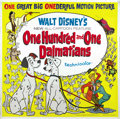 "Movie Posters:Animated, 101 Dalmatians (Buena Vista, 1961). Six Sheet (81"" X 81""). ..."