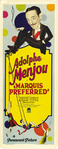 "Movie Posters:Comedy, Marquis Preferred (Paramount, 1927). Insert (14"" X 36""). ..."
