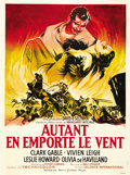 "Movie Posters:Academy Award Winner, Gone with the Wind (MGM, R-1954). French Grande (47"" X 63""). ..."