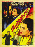 "Movie Posters:Film Noir, You Only Live Once (United Artists, 1937). French Grande (47"" X63""). ..."
