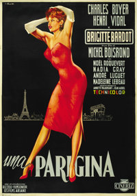 "Une Parisienne (La Parisienne) (United Artists, 1958). Italian 2 - Folio (39"" X 55"")"