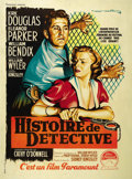 "Movie Posters:Crime, Detective Story (Paramount, 1951). French Grande (47"" X 63""). ..."