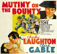 "Mutiny On The Bounty (MGM, 1935). Six Sheet (81"" X 81"")"