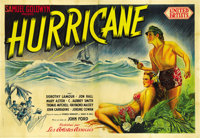 """Hurricane (United Artists, 1937). French Double Grande (63"""" X 93"""")"""