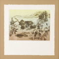 American:Modern, Anne Macrae Macleod. Palenque. Print, ed. 1/1, matted andframed. 8-3/4 x 11 1/2 inches (3.44 x 4.53 cm). Signed at lowe...
