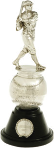 Baseball Collectibles:Others, 1927 Spalding Figural Batting Trophy. Blurring the line between sports collectible and fine sculpture is this dazzling spec...