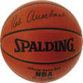 Basketball Collectibles:Balls, Red Auerbach Single Signed Basketball. The orchestrator of theBoston Celtics dynasty offers a flawless execution of his si...