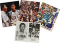 "Autographs:Photos, Lot of Four Basketball Signed Photographs. Lot of four 8x10""photographs. The first is a color photograph featuring John Th..."