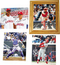 """Autographs:Photos, Texas Rangers Greats Signed Photographs Lot of 4. Classic quartetof signed 8x10"""" photos, all featuring fan favorites from ..."""