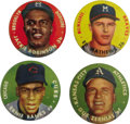 Baseball Cards:Lots, 1956 Topps Pins Group Lot of 4. One of Topps first specialtyissues, the pins utilize the same portraits found on the 1956 T...