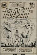Original Comic Art:Covers, Nick Cardy - The Flash #225 Cover Original Art (DC, 1974)....(Total: 2 Items)